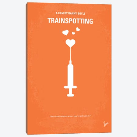Trainspotting Minimal Movie Poster Canvas Print #CKG166} by Chungkong Art Print