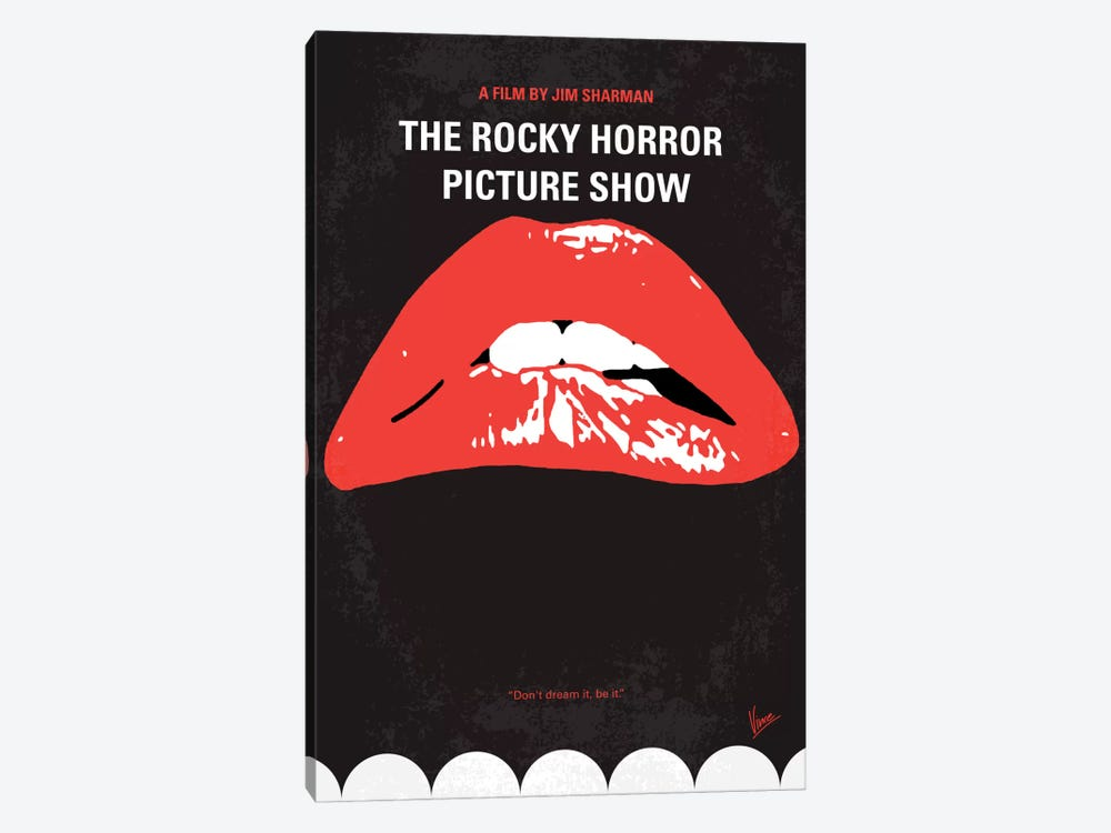 The Rocky Horror Picture Show Minimal Movie Poster by Chungkong 1-piece Canvas Print