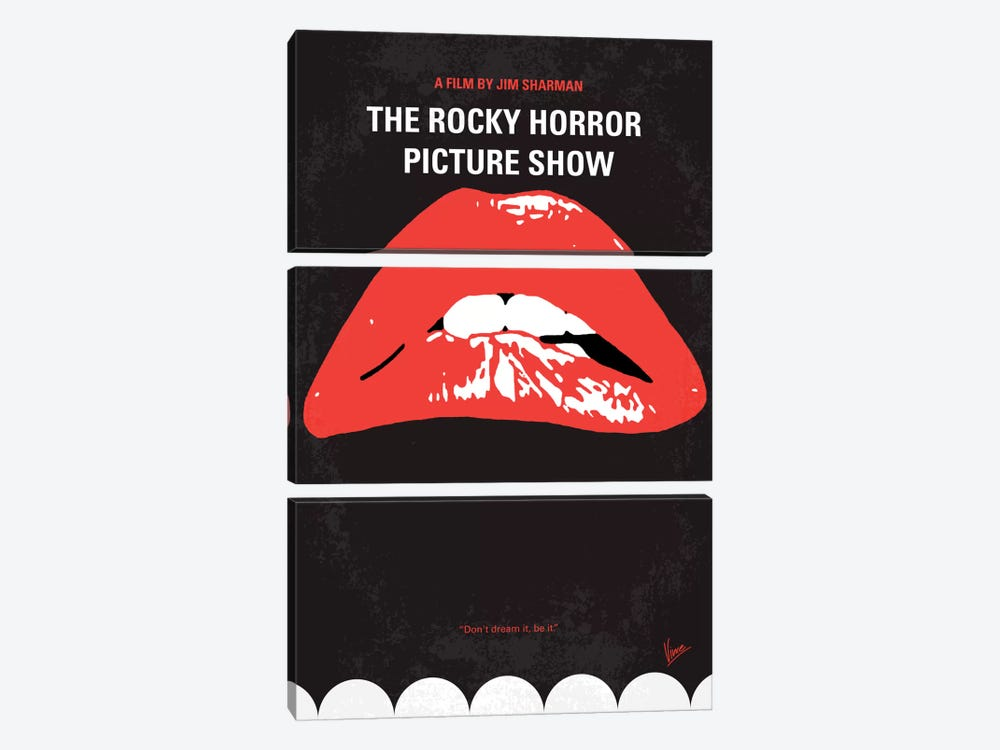 The Rocky Horror Picture Show Minimal Movie Poster by Chungkong 3-piece Art Print