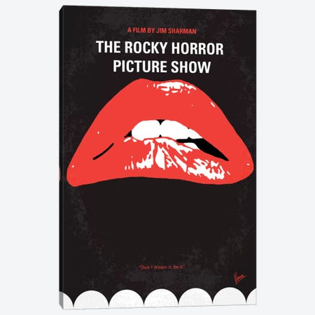 The Rocky Horror Picture Show Minimal Movie Poster Canvas Print #CKG167} by Chungkong Canvas Print