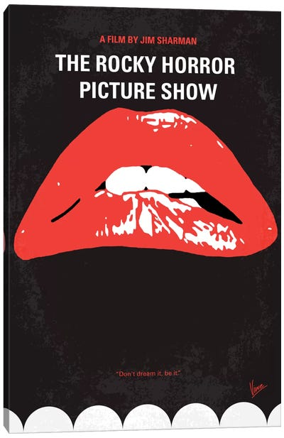 The Rocky Horror Picture Show Minimal Movie Poster Canvas Art Print
