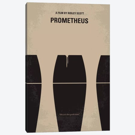 Prometheus Minimal Movie Poster Canvas Print #CKG168} by Chungkong Canvas Wall Art