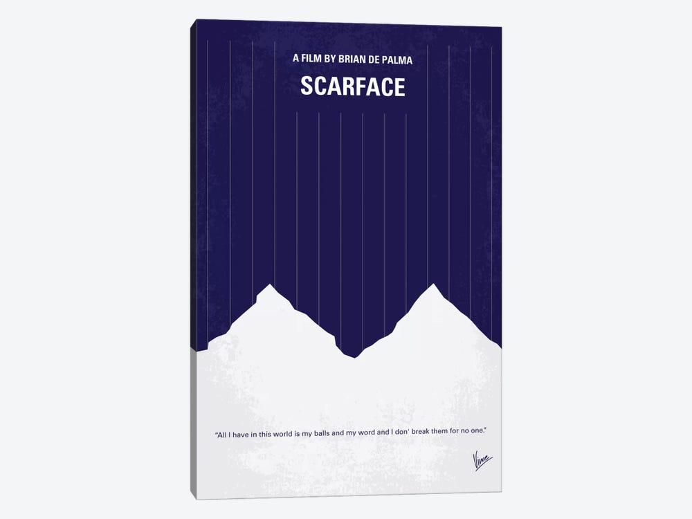 Scarface Minimal Movie Poster by Chungkong 1-piece Art Print