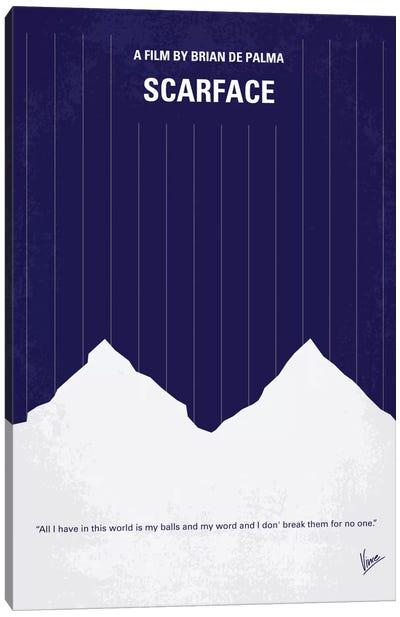 Scarface Minimal Movie Poster Canvas Art Print
