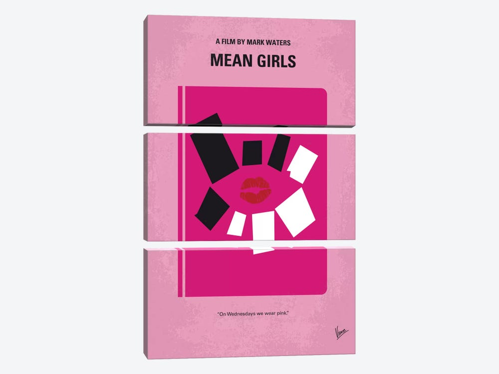 Mean Girls Minimal Movie Poster by Chungkong 3-piece Canvas Art