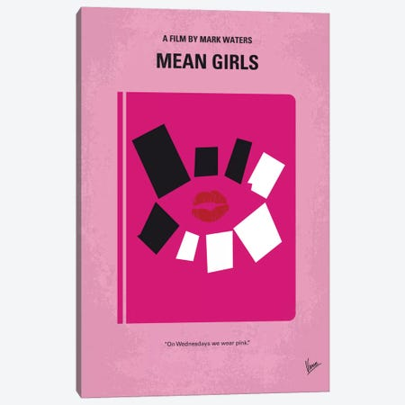 Mean Girls Minimal Movie Poster Canvas Print #CKG16} by Chungkong Canvas Art Print