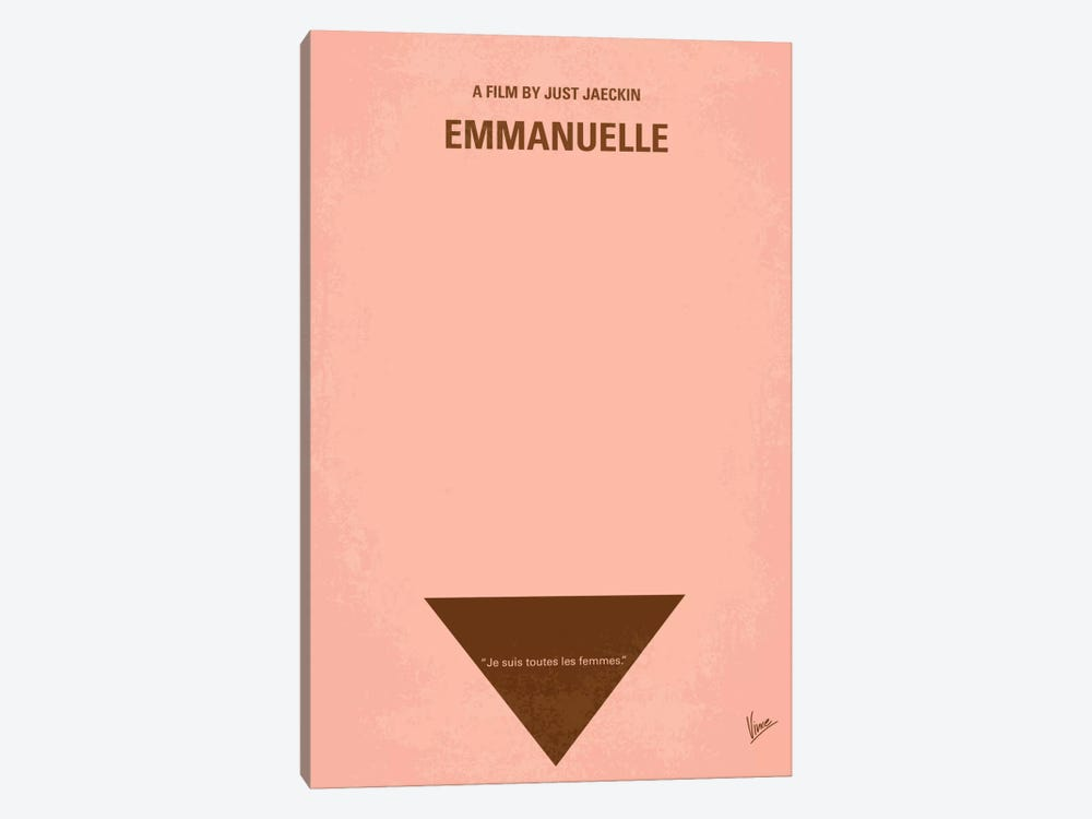 Emmanuelle Minimal Movie Poster by Chungkong 1-piece Canvas Art