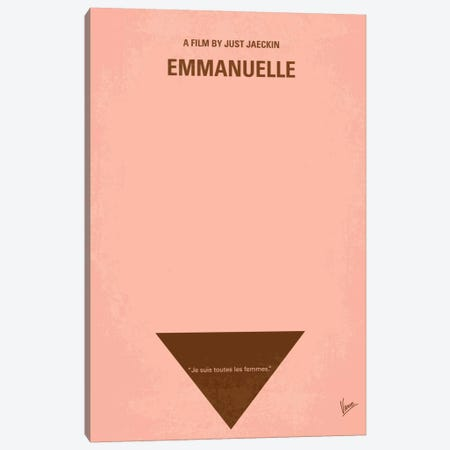Emmanuelle Minimal Movie Poster Canvas Print #CKG171} by Chungkong Canvas Print