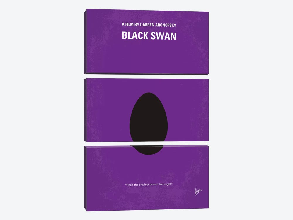 Black Swan Minimal Movie Poster 3-piece Canvas Art