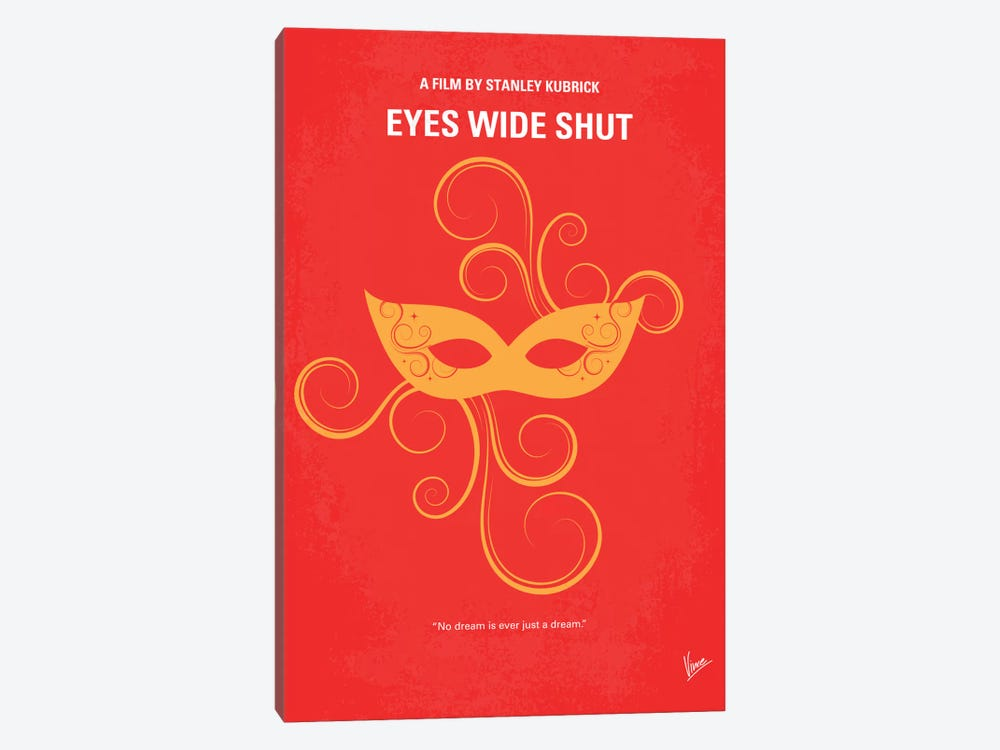 Eyes Wide Shut Minimal Movie Poster by Chungkong 1-piece Canvas Art