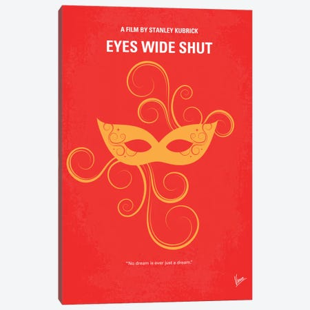 Eyes Wide Shut Minimal Movie Poster Canvas Print #CKG175} by Chungkong Canvas Art