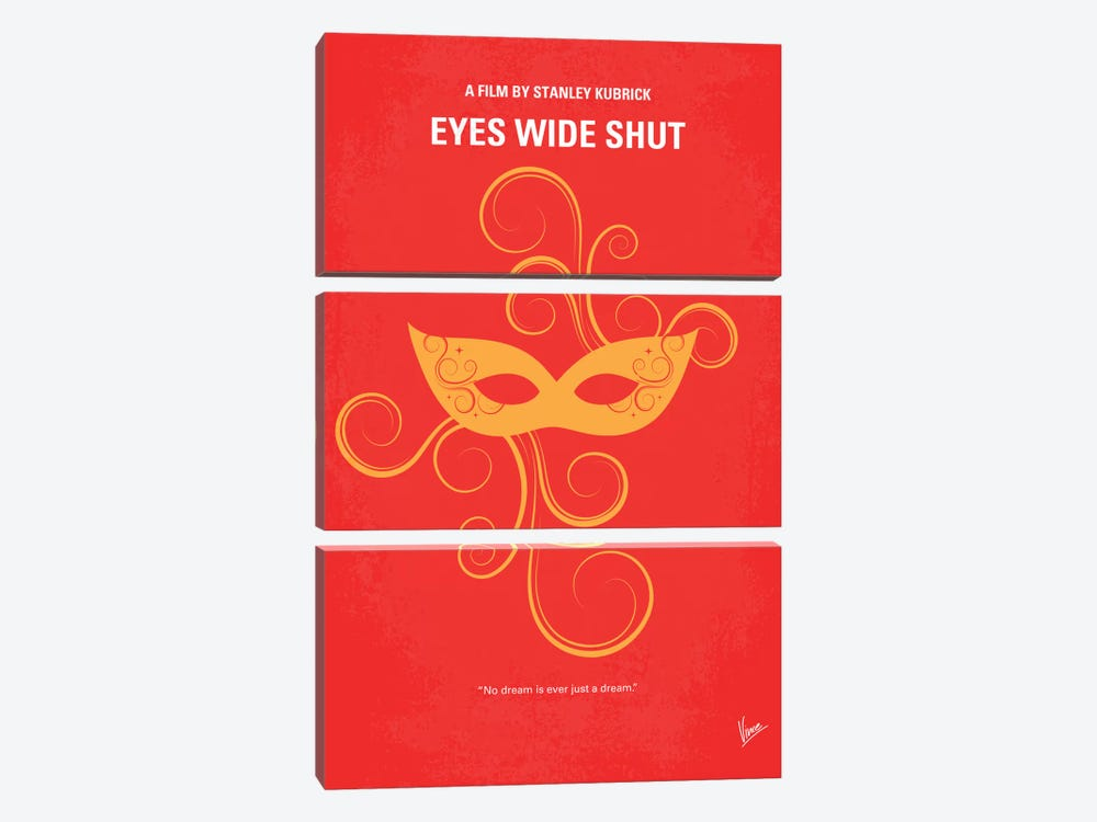 Eyes Wide Shut Minimal Movie Poster by Chungkong 3-piece Canvas Art