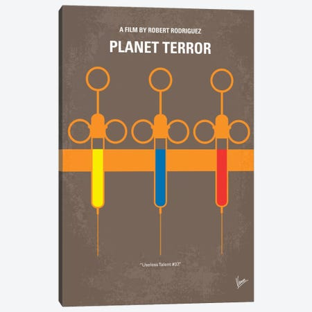 Planet Terror Minimal Movie Poster Canvas Print #CKG176} by Chungkong Canvas Artwork