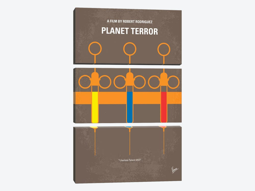 Planet Terror Minimal Movie Poster by Chungkong 3-piece Canvas Art Print