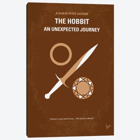 The Hobbit: An Unexpected Journey Minimal Movie Poster Canvas Print #CKG177} by Chungkong Canvas Art