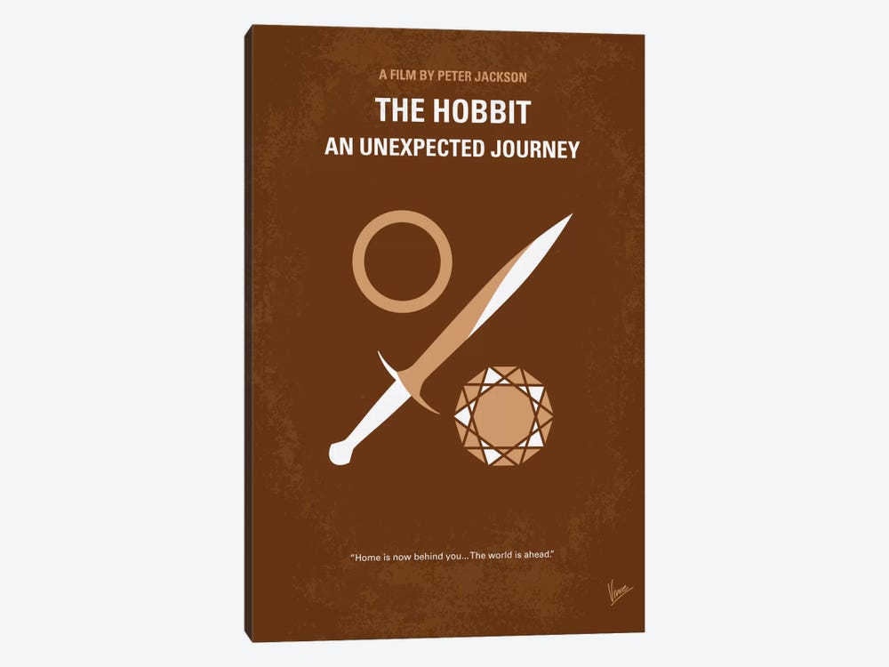 The Hobbit: An Unexpected Journey Minimal Movie Poster 1-piece Canvas Art