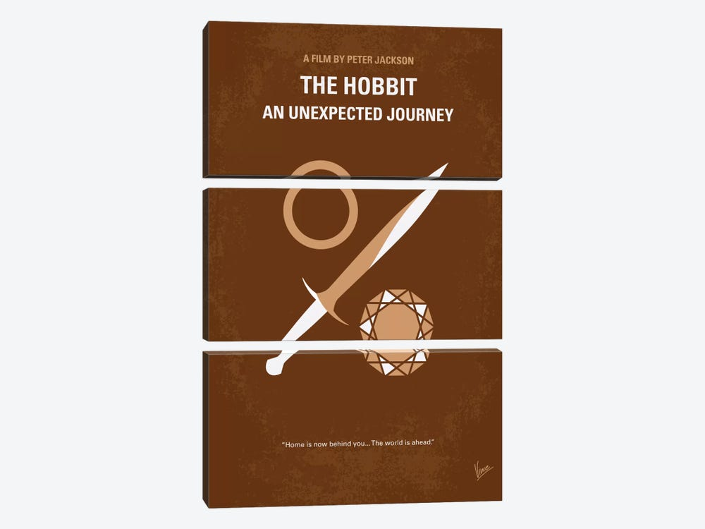 The Hobbit: An Unexpected Journey Minimal Movie Poster by Chungkong 3-piece Canvas Art