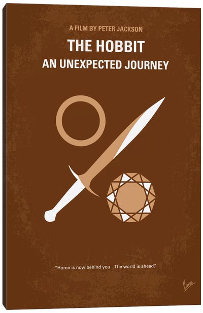 The Hobbit: An Unexpected Journey Minimal Movie Poster Canvas Art Print