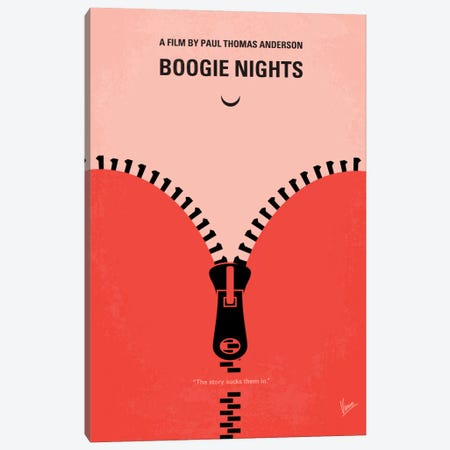 Boogie Nights Minimal Movie Poster Canvas Print #CKG178} by Chungkong Canvas Print