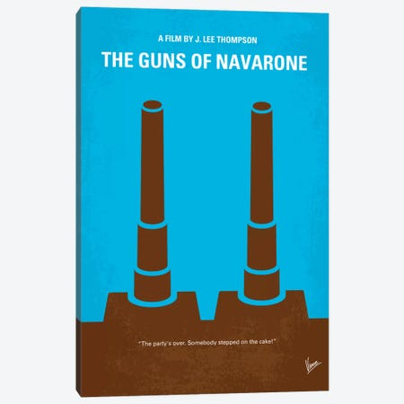 The Guns Of Navarone Minimal Movie Poster Canvas Print #CKG179} by Chungkong Canvas Print