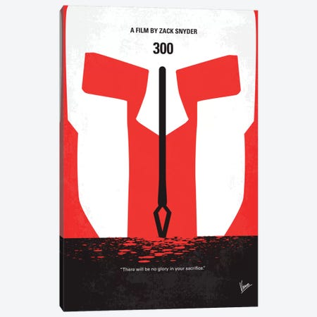 300 Minimal Movie Poster Canvas Print #CKG17} by Chungkong Canvas Print