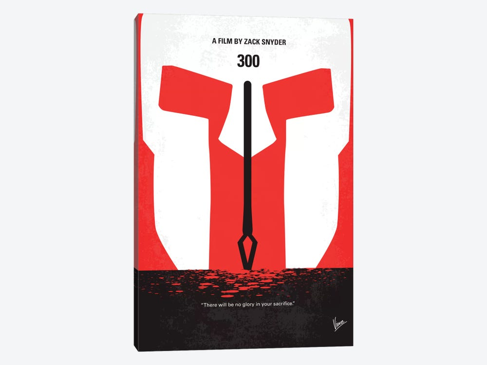 300 Minimal Movie Poster by Chungkong 1-piece Canvas Print