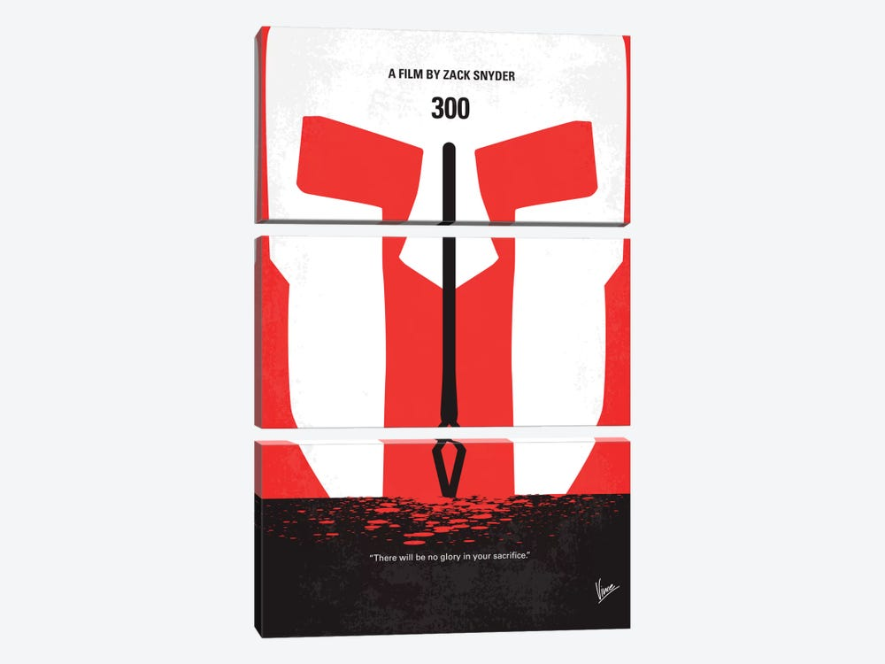 300 Minimal Movie Poster by Chungkong 3-piece Art Print