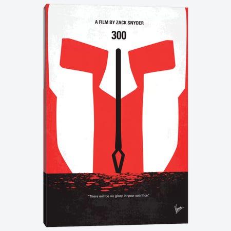 300 Minimal Movie Poster Canvas Print #CKG17} by Chungkong Canvas Print