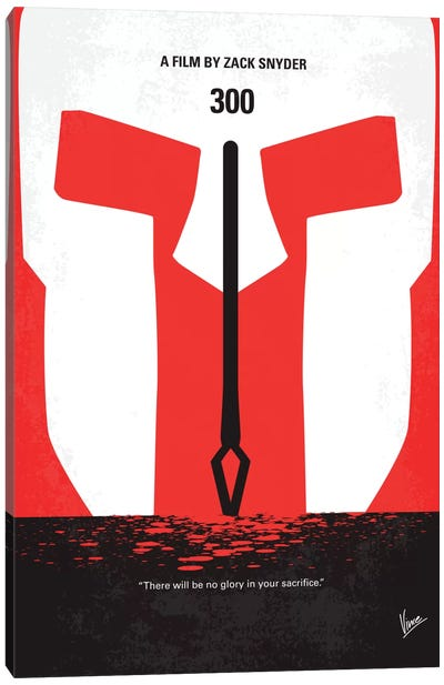 300 Minimal Movie Poster Canvas Art Print