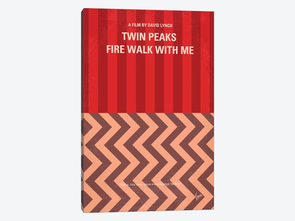 Twin Peaks: Fire Walk With Me Minimal Movie Poster by Chungkong 1-piece Canvas Wall Art