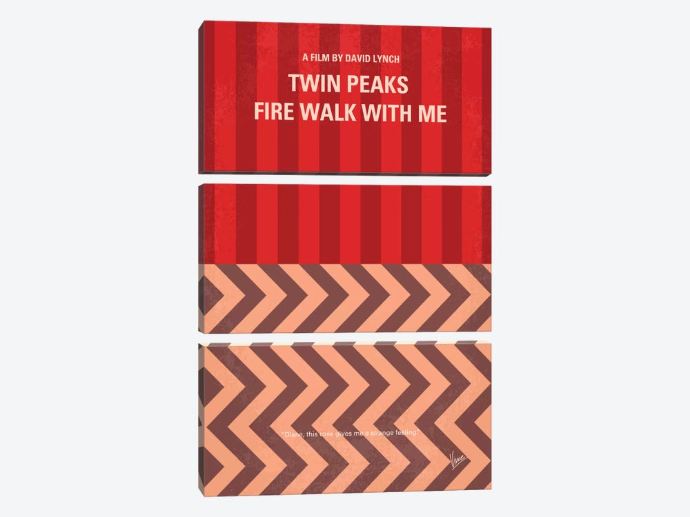 Twin Peaks: Fire Walk With Me Minimal Movie Poster by Chungkong 3-piece Canvas Art