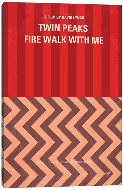 Twin Peaks: Fire Walk With Me Minimal Movie Poster Canvas Art Print