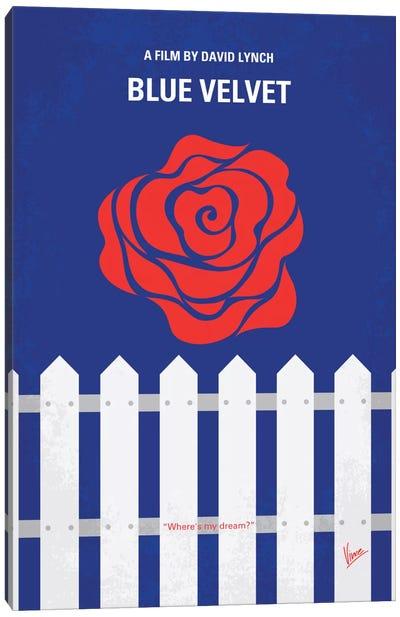 Blue Velvet Minimal Movie Poster Canvas Art Print