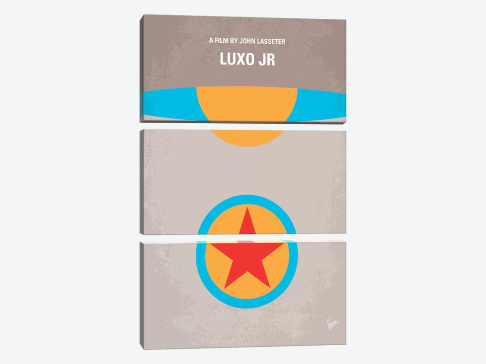 Luxo Jr. Minimal Movie Poster by Chungkong 3-piece Canvas Wall Art