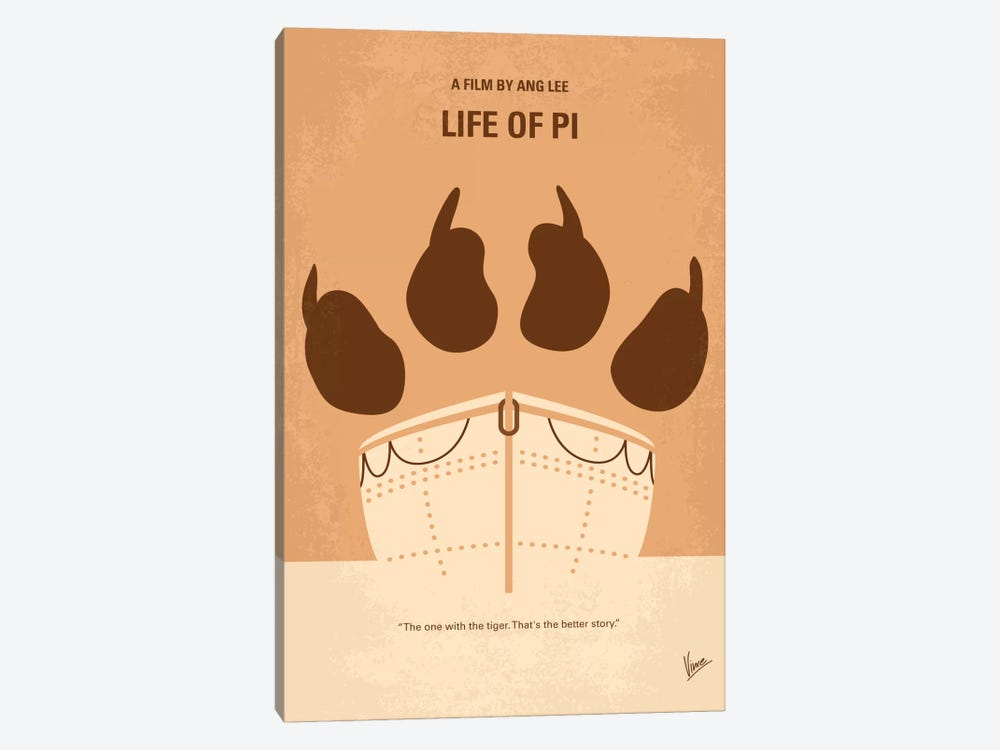 Life Of Pi Minimal Movie Poster by Chungkong 1-piece Canvas Art