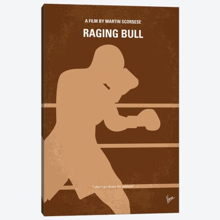 Raging Bull Minimal Movie Poster Canvas Print #CKG185} by Chungkong Art Print