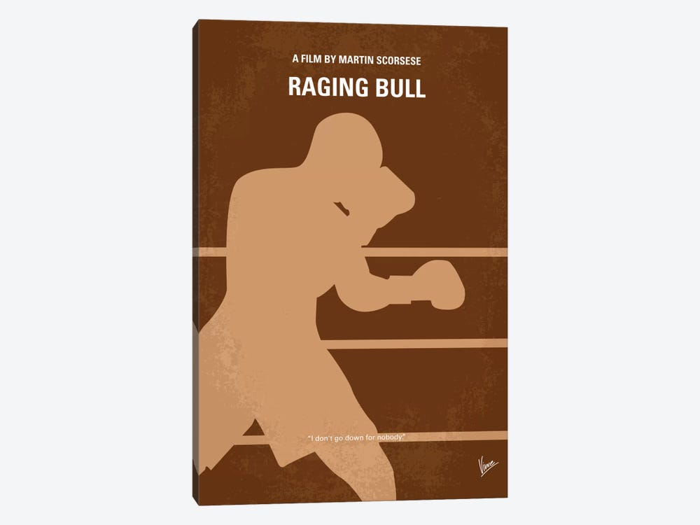 Raging Bull Minimal Movie Poster by Chungkong 1-piece Canvas Print