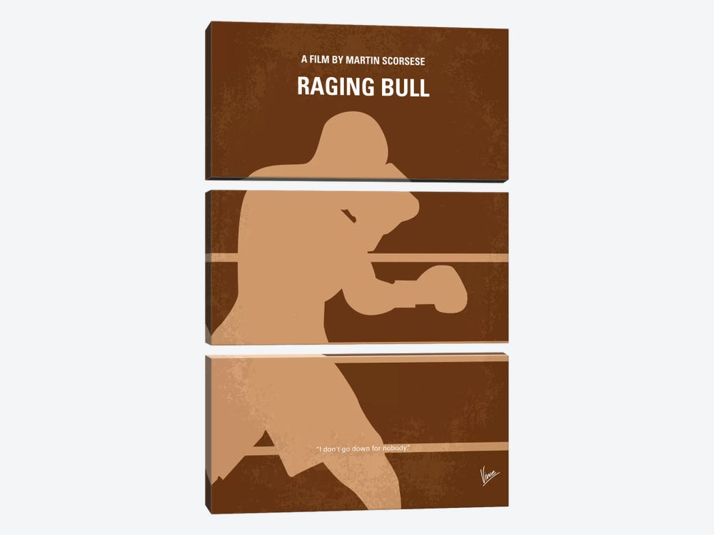 Raging Bull Minimal Movie Poster 3-piece Art Print
