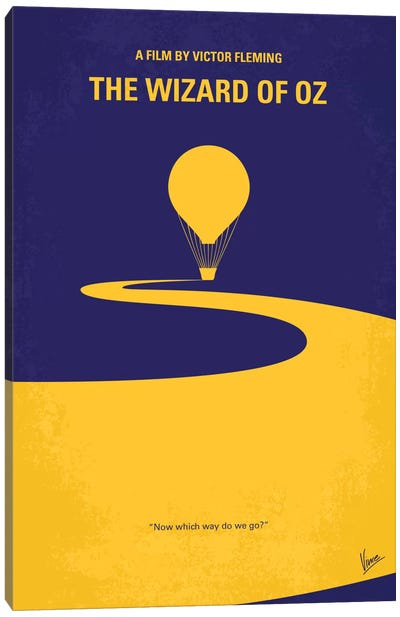 Wizard Of Oz Minimal Movie Poster Canvas Art Print