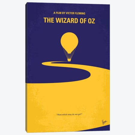 Wizard Of Oz Minimal Movie Poster Canvas Print #CKG187} by Chungkong Canvas Print