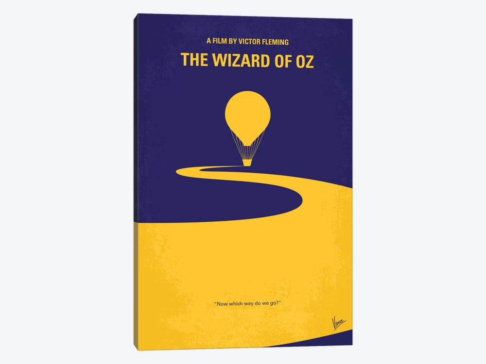 Wizard Of Oz Minimal Movie Poster by Chungkong 1-piece Art Print