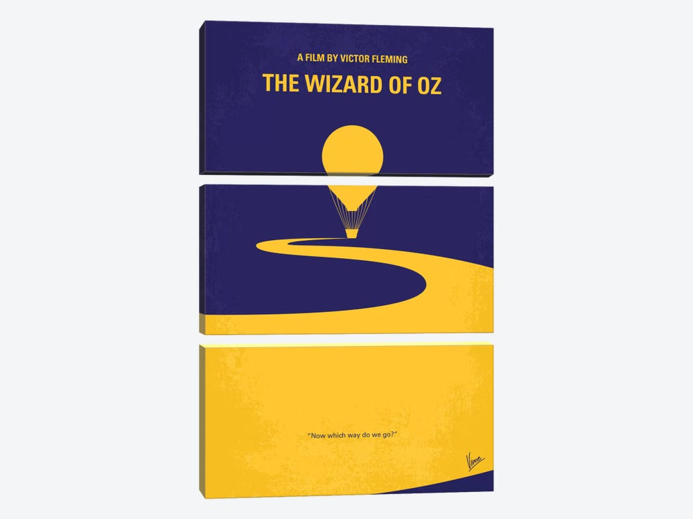 Wizard Of Oz Minimal Movie Poster by Chungkong 3-piece Canvas Art Print