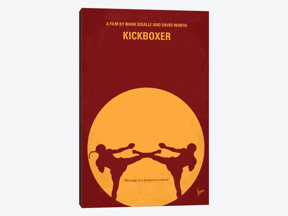 Kickboxer Minimal Movie Poster by Chungkong 1-piece Canvas Wall Art