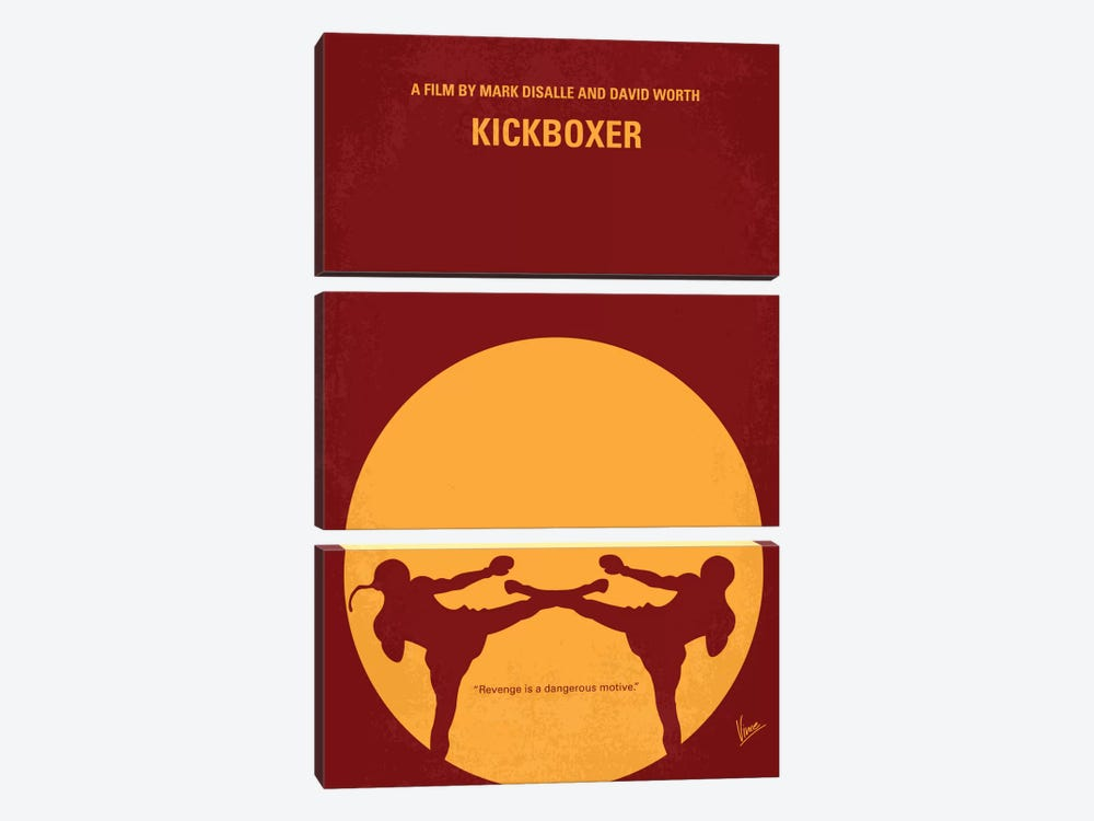 Kickboxer Minimal Movie Poster by Chungkong 3-piece Canvas Art
