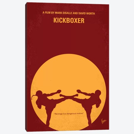 Kickboxer Minimal Movie Poster Canvas Print #CKG188} by Chungkong Canvas Wall Art