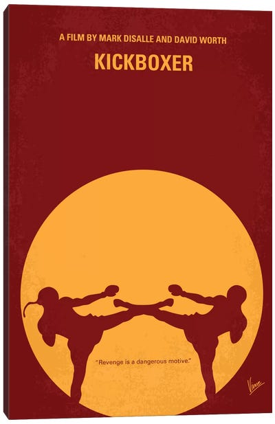 Kickboxer Minimal Movie Poster Canvas Art Print