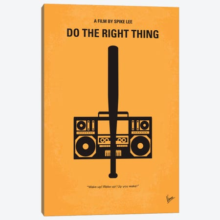 Do The Right Thing Minimal Movie Poster Canvas Print #CKG189} by Chungkong Canvas Artwork