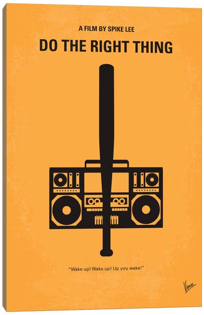 Do The Right Thing Minimal Movie Poster Canvas Print #CKG189