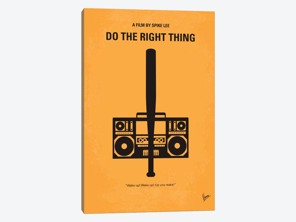 Do The Right Thing Minimal Movie Poster by Chungkong 1-piece Canvas Print