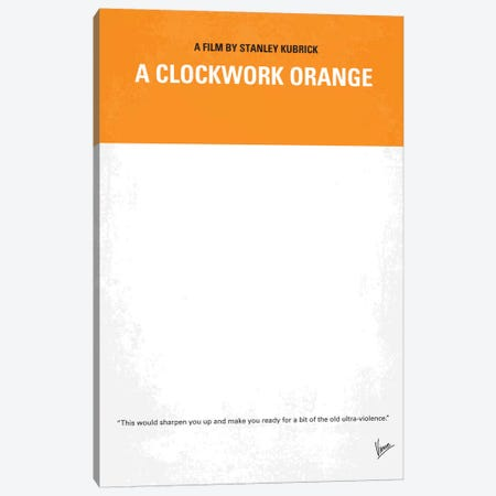 A Clockwork Orange Minimal Movie Poster Canvas Print #CKG18} by Chungkong Canvas Wall Art